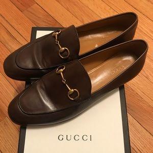 Gucci Jordaan Horsebit loafer in brown size 39